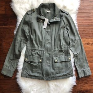 NWT Francesca's Military Green Jacket Size Large